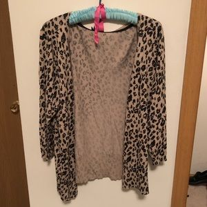 Maurice's cheetah print cardigan